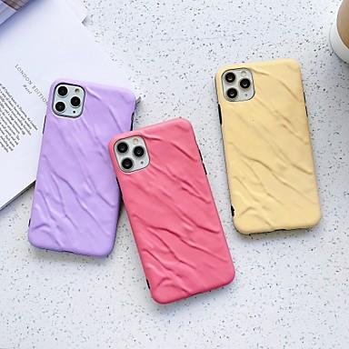 Недорогие Кейсы для iPhone 6-Кейс для Назначение Apple iPhone 11 / iPhone 11 Pro / iPhone 11 Pro Max Защита от удара Кейс на заднюю панель Полосы / волосы / Однотонный ТПУ