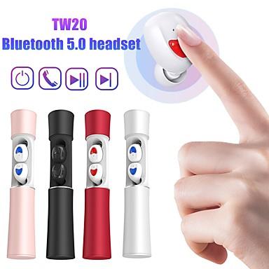 olcso Headsetek és fejhallgatók-litbest tw20 tws valódi vezeték nélküli fejhallgató realtek 5.0 zajszűrő vezeték nélküli fülhallgató bluetooth 5.0 sztereó mikrofon töltő tokkal