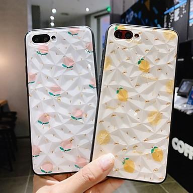 Недорогие Чехлы и кейсы для Huawei-Кейс для Назначение Huawei Huawei Nova 4 / Huawei nova 4e / Huawei P20 Защита от удара / Защита от пыли / С узором Кейс на заднюю панель Плитка / Продукты питания ПК