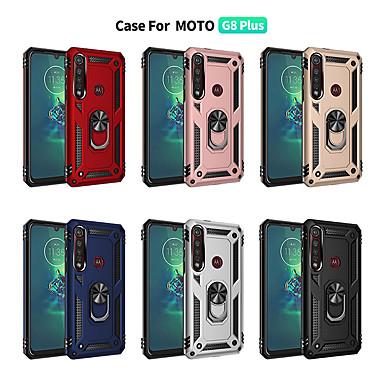 Недорогие Чехлы и кейсы для Motorola-Кейс для Назначение Motorola MOTO G6 / Moto G6 Play / Мото G7 Защита от удара / Кольца-держатели Кейс на заднюю панель Однотонный ТПУ / ПК