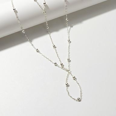 ieftine Bijuterii de Corp-Sandale Desculț gleznă brățară De Bază Boem Corean Pentru femei Bijuterii de corp Pentru Petrecere Cadou Geometric Aliaj Vertical Auriu Argintiu 1 buc
