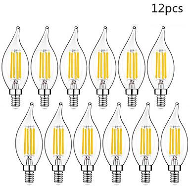 ieftine Becuri LED-12pcs led bec e14 220v vintage edison led lamp 4w c35l e14 candel lamp retro cu filament bec
