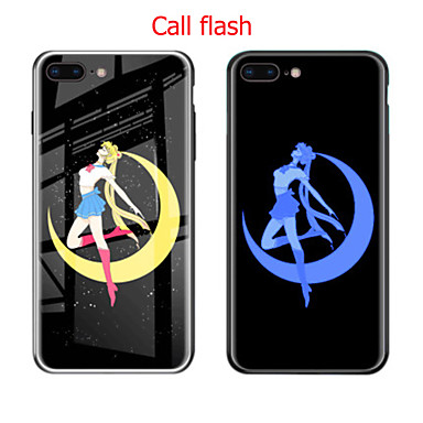 Недорогие Кейсы для iPhone 6-iphone 11pro max входящий флеш чехол для телефона xs max мягкий стеклянный футляр с четырех сторон противоударный 6/7 / 8plus красивая девушка защитная крышка