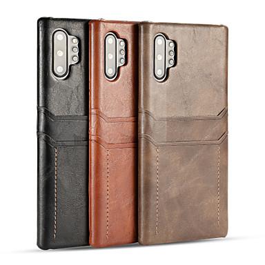 Недорогие Чехлы и кейсы для Galaxy Note-Кейс для Назначение SSamsung Galaxy S9 / S9 Plus / Note 9 Бумажник для карт / Защита от удара Кейс на заднюю панель Однотонный Кожа PU / ПК