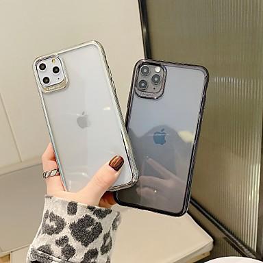 Недорогие Кейсы для iPhone-Кейс для Назначение Apple iPhone 11 / iPhone 11 Pro / iPhone 11 Pro Max Защита от удара / Ультратонкий / Прозрачный Кейс на заднюю панель / Бампер Прозрачный ТПУ / ПК