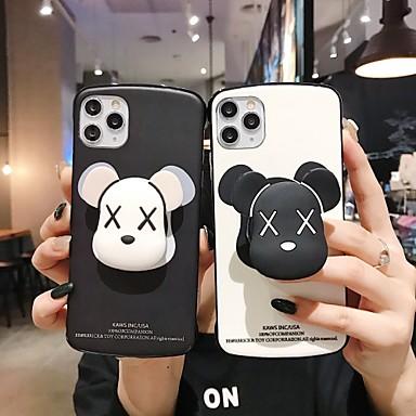 Недорогие Кейсы для iPhone-Кейс для Назначение Apple iPhone 11 / iPhone 11 Pro / iPhone 11 Pro Max со стендом / С узором Кейс на заднюю панель Животное / Мультипликация ТПУ