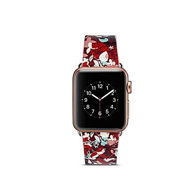 Недорогие Ремешки для Apple Watch-Ремешок для часов для Apple Watch Series 4 / Apple Watch Series 3 / Apple Watch Series 2 Apple Кожаный ремешок Натуральная кожа Повязка на запястье