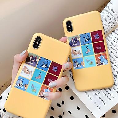 Недорогие Кейсы для iPhone 6 Plus-Кейс для Назначение Apple iPhone 11 / iPhone XR / iPhone XS Max Защита от удара / Ультратонкий Кейс на заднюю панель Кот / Мультипликация ПК