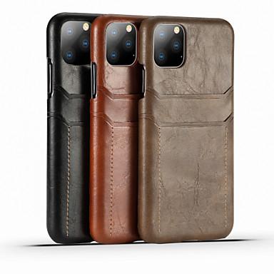 Недорогие Кейсы для iPhone 7 Plus-Кейс для Назначение Apple iPhone 11 / iPhone 11 Pro / iPhone 11 Pro Max Бумажник для карт / Защита от удара Кейс на заднюю панель Однотонный Кожа PU / ПК