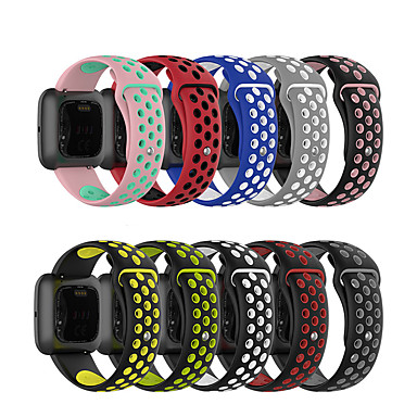 cheap Smartwatch Accessories-Watch Band for Fitbit Blaze / Fitbit Versa / Fitbi Versa Lite Fitbit Sport Band Silicone Wrist Strap Double color SLR buckle
