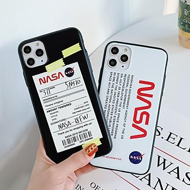 Недорогие Кейсы для iPhone-Кейс для Назначение Apple iPhone 11 / iPhone 11 Pro / iPhone 11 Pro Max Защита от удара Кейс на заднюю панель Слова / выражения ТПУ