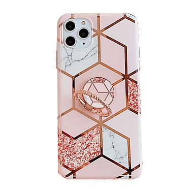 Недорогие Кейсы для iPhone 6 Plus-чехол для карты яблока сцены iphone 11 11 pro 11 pro max x xs xr xs max 8 разноцветный ромбовидный мраморный цветочный узор с покрытием из материала тпу imd технологический кольцевой кронштейн