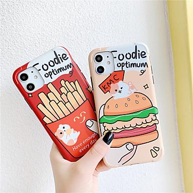 Недорогие Кейсы для iPhone-чехол для яблока iphone 11 / iphone 11 pro / iphone 11 pro max ударопрочный / imd / выкройка задней крышки с рисунком еды для iphone x xs xr xs max 8 8plus 7 7plus 6 6plus 6s 6s plus