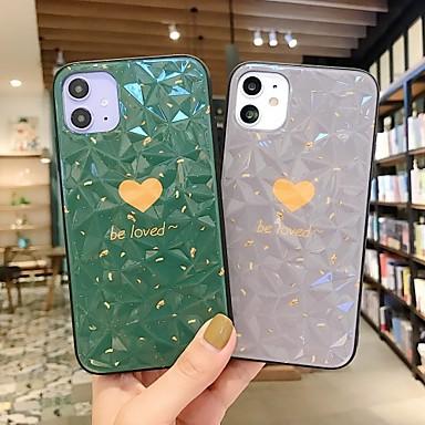 Недорогие Кейсы для iPhone 6-Кейс для Назначение Apple iPhone 11 / iPhone XS / iPhone XR Защита от удара Кейс на заднюю панель Слова / выражения / С сердцем / Однотонный ПК