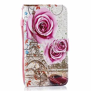 Недорогие Кейсы для iPhone X-чехол для яблока iphone 11 / iphone 11 про макс дворцовый цветок искусственная кожа с слотом для карт вверх и вниз для iphone5 / 6/7/8 / 6p / 7p / 8p / x / xs / xr / xs mas