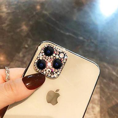 Недорогие Защитные плёнки для экрана iPhone-Защитная линза камеры алмаз украсить для iphone 11 pro max xr x xs max роскошная защитная пленка