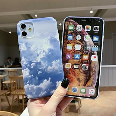 Недорогие Кейсы для iPhone 7 Plus-чехол для карты яблока сцены iphone 11 x xs xr xs макс. 8 голубое небо и белые облака рисунок из тонкого матового материала ПК водная наклейка универсальный чехол для мобильного телефона