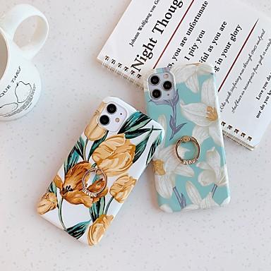 Недорогие Кейсы для iPhone X-чехол для карты яблока сцены iphone 11 11 pro 11 pro max x xs xr xs max 8 разноцветный цветочный узор блестящий материал тпу imd технологический кронштейн для кольца универсальный чехол для мобильного