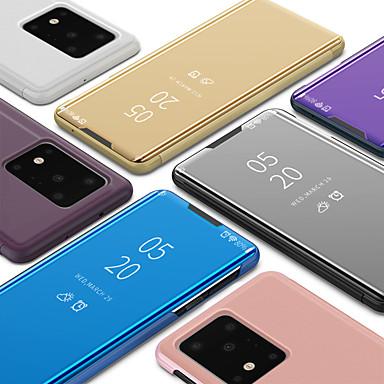 Недорогие Чехлы и кейсы для Galaxy S-чехол для samsung galaxy s20 / s20 plus / s20 ультра люкс умный ясный вид зеркало зеркальная подставка телефон чехол для samsung galaxy note 10 / примечание 10 plus / s10 / s10 plus / s10e