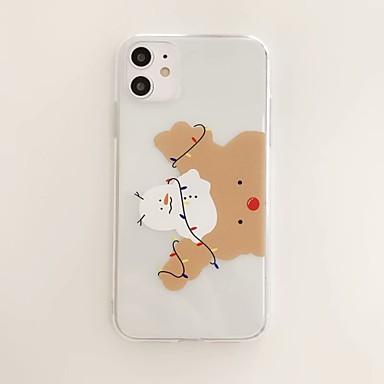Недорогие Кейсы для iPhone 7 Plus-чехол для яблока карта сцены iphone 11 x xs xr xs макс 8 мультфильм шаблон высокой прозрачности толстый материал тпу все включено чехол для мобильного телефона