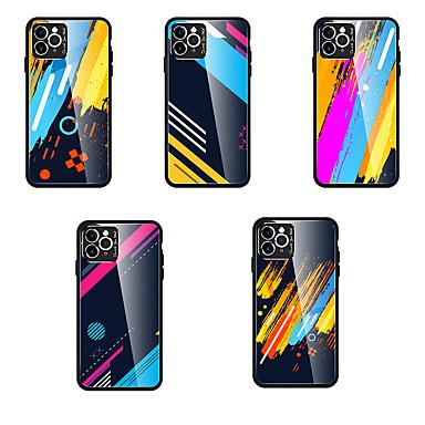 Недорогие Кейсы для iPhone 7-чехол для карты сцены Apple iphone 11 x xs xr xs макс. 8 цветное узорное стекло, задняя панель, тпу, рамка 2-в-1, универсальный чехол для мобильного телефона