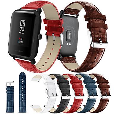 Недорогие Аксессуары для смарт-часов-smartwatch band для huami amazfit bip younth / bip lite / gtr 42mm / gts / bip amazfit sport band высококачественная модная удобная кожаная петля из натуральной кожи ремешок на запястье 20 мм