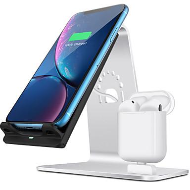 Недорогие Беспроводные зарядные устройства-10 W Беспроводное зарядное устройство Зарядное устройство USB USB Беспроводное зарядное устройство 1 USB порт 2 A / 1.67 A DC 9V / DC 5V для Apple Watch Series 4/3/2/1 iPhone 11 / iPhone 11 Pro