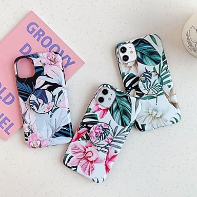 Недорогие Кейсы для iPhone X-Кейс для Назначение Apple iPhone 11 / iPhone 11 Pro / iPhone 11 Pro Max Защита от удара / со стендом / Матовое Кейс на заднюю панель Плитка / дерево / Цветы ПК