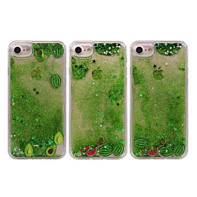Недорогие Кейсы для iPhone 6-жидкостный чехол для iphone 11 pro max xs max xr 7/8 plus fusicase забавные блестящие звезды сверкают зеленые зыбучие пески оболочка течет плавающий ультра тонкий прозрачный бампер фрукты крышка