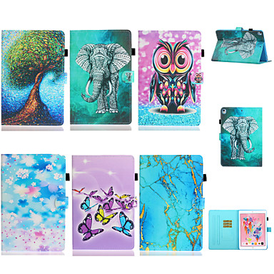 cheap Tablet Cases-Case For Samsung Tablets Samsung Tab A 10.1(2019)T510 / Galaxy Tab A 10.5 T595 T590 / Samsung Tab A 8.0(2019)T290/295 Card Holder / Shockproof Full Body Cases Scenery / Cartoon TPU