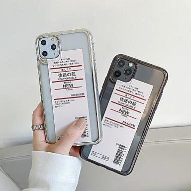 Недорогие Кейсы для iPhone-Кейс для Назначение Apple iPhone 11 / iPhone 11 Pro / iPhone 11 Pro Max Защита от удара / Ультратонкий / Прозрачный Кейс на заднюю панель / Бампер Слова / выражения / Прозрачный ТПУ / ПК
