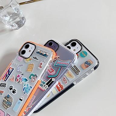 povoljno Maske za mobitele-Θήκη Za Apple iPhone 11 / iPhone 11 Pro / iPhone 11 Pro Max Otporno na trešnju Stražnja maska Igra s Appleovim logom / Prozirno TPU