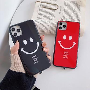 Недорогие Кейсы для iPhone 7 Plus-держать улыбку будет удача чехол для apple iphone 11 / iphone 11 pro / iphone 11 pro max ударопрочный / пыленепроницаемый / светодиодная вспышка подсветка задняя крышка слово pc