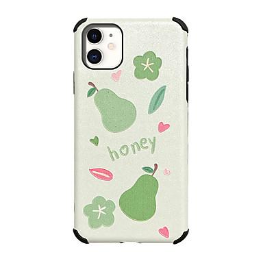 Недорогие Кейсы для iPhone 6 Plus-чехол для карты яблока сцены iphone 11 11 pro 11 pro max x xs xr xs max 8 фруктовый рисунок сильно рельефный шелковый рисунок кожа сгущает тпу текстура четыре угла антипадение все включено чехол для