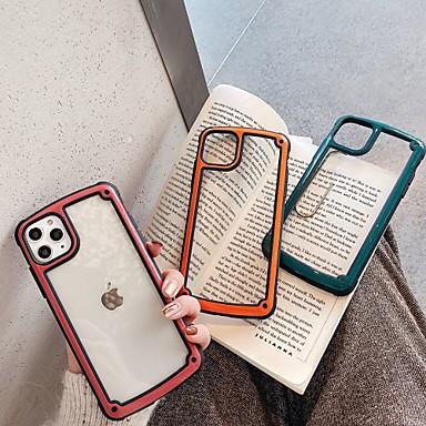 Недорогие Кейсы для iPhone 6 Plus-Кейс для Назначение Apple iPhone 11 / iPhone XS / iPhone XR Прозрачный Кейс на заднюю панель Прозрачный / Однотонный ТПУ / ПК