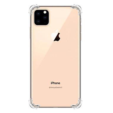 Недорогие Кейсы для iPhone-Кейс для Назначение Apple iPhone 11 / iPhone 11 Pro / iPhone 11 Pro Max Защита от удара Кейс на заднюю панель Прозрачный ТПУ