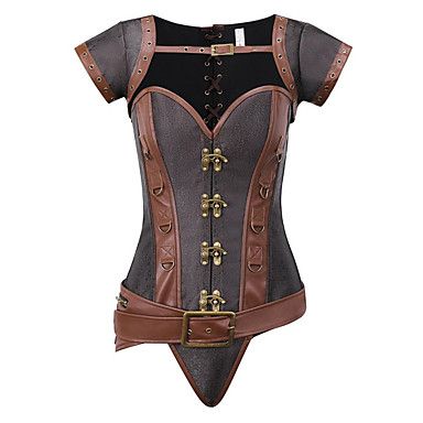 cheap Gifts & Decorations-Plus Size POLY Corset Sexy Patchwork Party Evening Bandage Gothic Style
