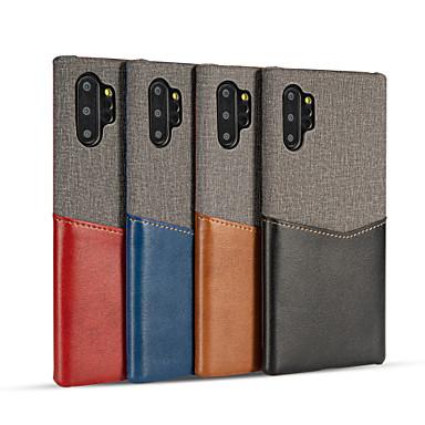 Недорогие Чехлы и кейсы для Galaxy S-Кейс для Назначение SSamsung Galaxy Note 9 / Galaxy S10 / Galaxy S10 Plus Бумажник для карт / Защита от удара / Ультратонкий Кейс на заднюю панель Однотонный Настоящая кожа / холст