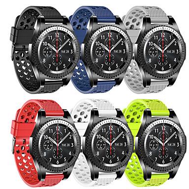 Недорогие Часы для Samsung-спортивный силиконовый ремешок для часов samsung galaxy 46mm / 42mm / gear s3 classic / frontier / galaxy watch active 2 40mm / 44mm / gear s2 classic / gear спортивный сменный браслет ремешок на