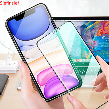 Недорогие Защитные плёнки для экрана iPhone-зеленое закаленное стекло для iphone xr x 8 7 6 6s плюс защитная пленка для полного экрана для iphone 11 pro xs max очки для защиты глаз