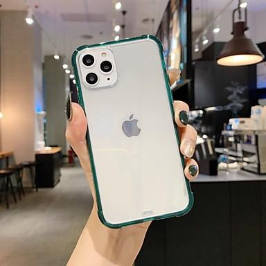 Недорогие Кейсы для iPhone 6 Plus-чехол для карты яблока сцены iphone 11 x xs xr xs макс 8 чистый цвет прозрачный высококачественный материал тпу четыре угла все включено чехол для мобильного телефона