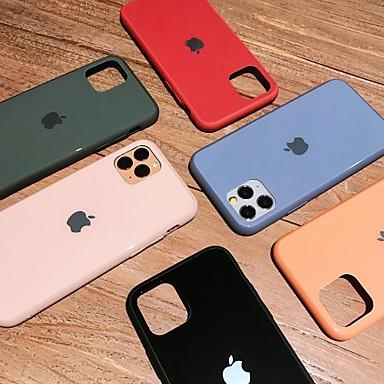 Недорогие Кейсы для iPhone 6 Plus-Кейс для Назначение Apple iPhone 11 / iPhone 11 Pro / iPhone 11 Pro Max Защита от удара / Ультратонкий Кейс на заднюю панель Однотонный ПК