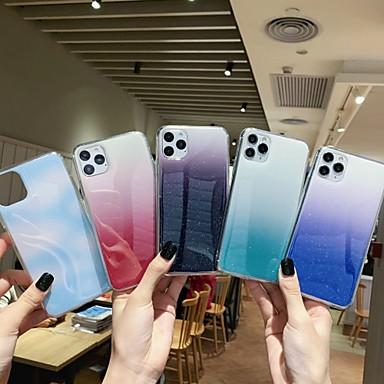 Недорогие Кейсы для iPhone 7 Plus-Кейс для Назначение Apple iPhone 11 / iPhone 11 Pro / iPhone 11 Pro Max Защита от удара Кейс на заднюю панель Градиент цвета ТПУ