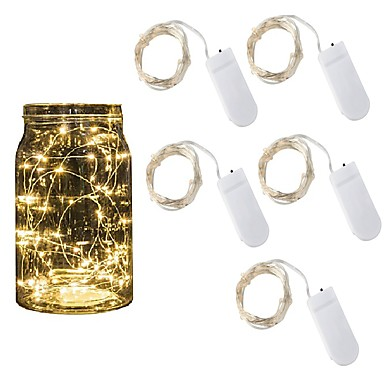 رخيصةأون أضواء شريط LED-5 قطع 2 متر أدت سلسلة أضواء عطلة أضواء الجنية أضواء عيد الميلاد جارلاند لحفل زفاف السنة الجديدة