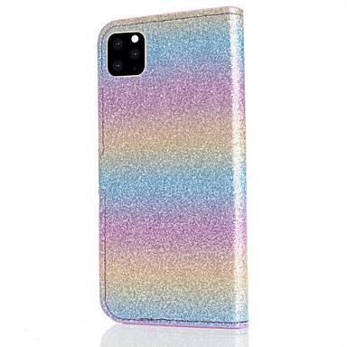 Недорогие Кейсы для iPhone 6 Plus-Кейс для Назначение Apple iPhone 11 / iPhone 11 Pro / iPhone 11 Pro Max Бумажник для карт / Защита от удара Чехол Градиент цвета Кожа PU