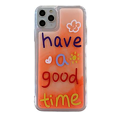 Недорогие Кейсы для iPhone 6 Plus-чехол для яблока iphone 11 / iphone 11 pro / iphone 11 pro max свечение в темноте / выкройка задней обложки слово / фраза ТПУ для iphone x xs xr xs max 8 8plus 7 7plus 6 6plus 6s 6s plus