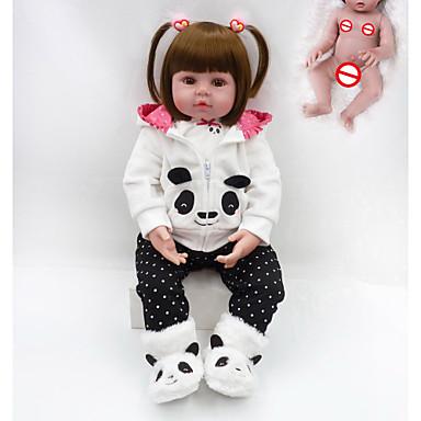 olcso babák-NPKCOLLECTION Reborn Dolls Fiú babák Lány babák 20 hüvelyk Teljes test szilikon - élethű Ajándék Kézzel készített Gyerek Uniszex Játékok Ajándék