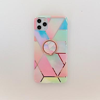 Недорогие Кейсы для iPhone X-чехол для карты яблока сцена iphone 11 11 pro 11 pro max x xs xr xs max 8 разноцветный ромбовидный мраморный рисунок с покрытием материал тпу imd технологический кольцевой кронштейн универсальный