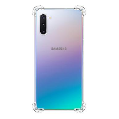 Недорогие Чехлы и кейсы для Galaxy S-Кейс для Назначение SSamsung Galaxy S9 / S9 Plus / Galaxy S10 Защита от удара Кейс на заднюю панель Прозрачный ТПУ