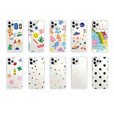 Недорогие Кейсы для iPhone 6 Plus-чехол для яблока карта сцены iphone 11 x xs xr xs макс. 8 мультфильм любовь шаблон высокий прозрачный толстый тпу материал все включено чехол для мобильного телефона